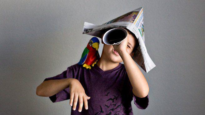 chapeau en papier journal pirate