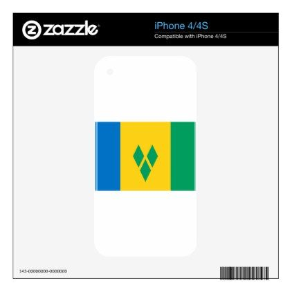 Low Cost Saint Vincent And The Grenadines Flag Decals For IPhone 4