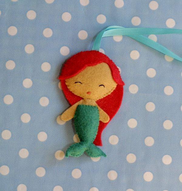 Little mermaid Ariel felt mermaid nursery by NikisBirdhouse