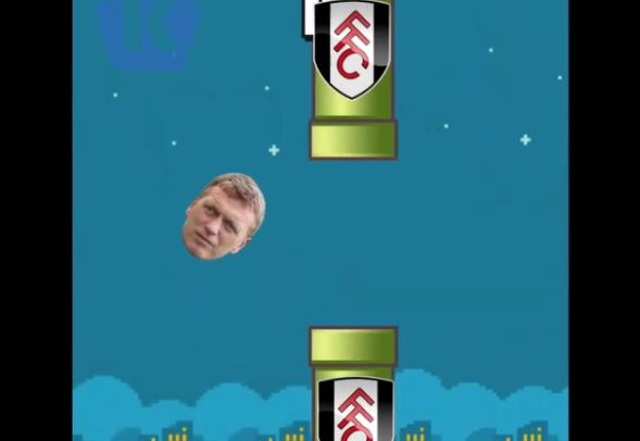 David Moyes becomes Flappy Bird in new spoof
