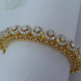 Diamond bangle.
