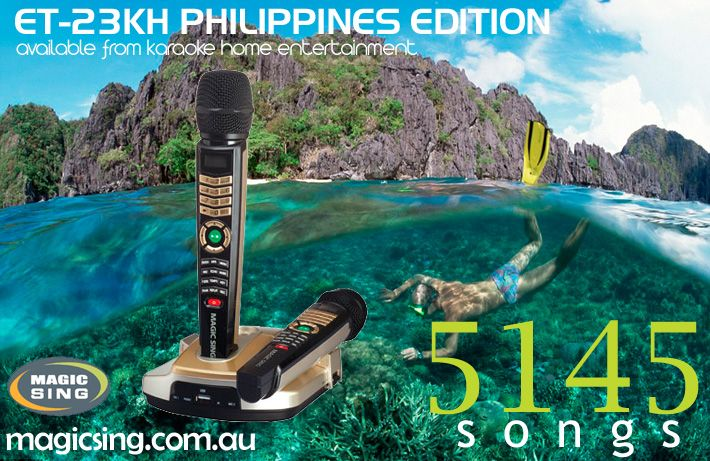 Philippines Edition Magic Sing Karaoke System ET-23KH