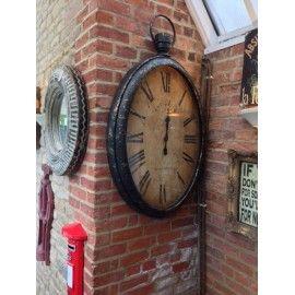 Antiqued Wall Pocket Watch vintage industrial tick tick station clock