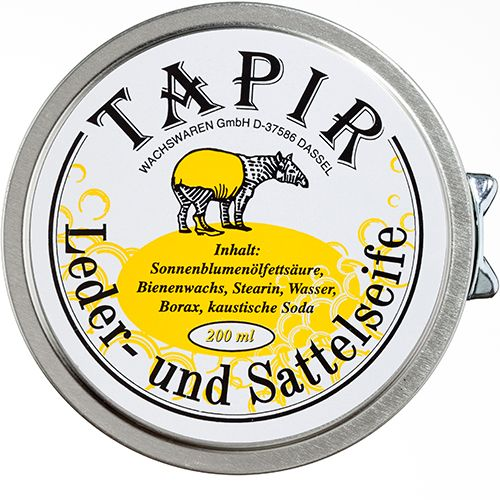 Saddle Soap 200 ml Geschikt voor het grondig reinigen en herstellen van gladde (grovere en olieachtige) leersoorten (niet geschikt voor suede en nubuck). Dit product bevat zonnebloemenolievetzuur, bijenwas, Stearine, Water, Borax en Caustische Soda. De Saddle Soap kunt u aanbrengen met een insmeerborstel, of met een spons. De zeep is kleurloos en dus voor iedere...