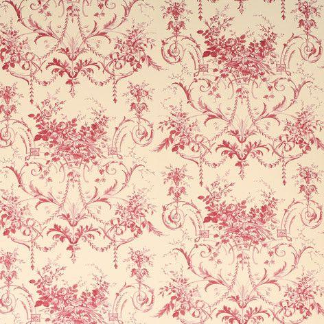 Tuileries Cranberry Wallpaper