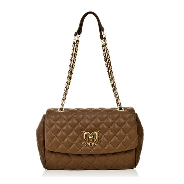 Love Moschino Quilted Sholder bag at www.vogmoda.com
