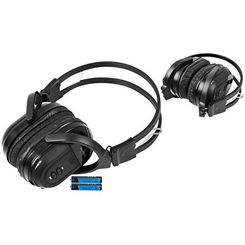 1 Pack Wireless Two Channel Folding Universal Rear Entertainment System Infrared Headphone IR DVD Player Head Phones for in Car TV Video Audio Listening:   Enjoy music, movies and more! With these wireless infrared folding headphones. Automotive Grade IR Headphones: Will work on any vehicle that uses infrared headphones. No programming required! Simply turn on the headphones and they will connect to your vehicles rear entertainment system. IR Sensors: Uses high frequency infrared light...