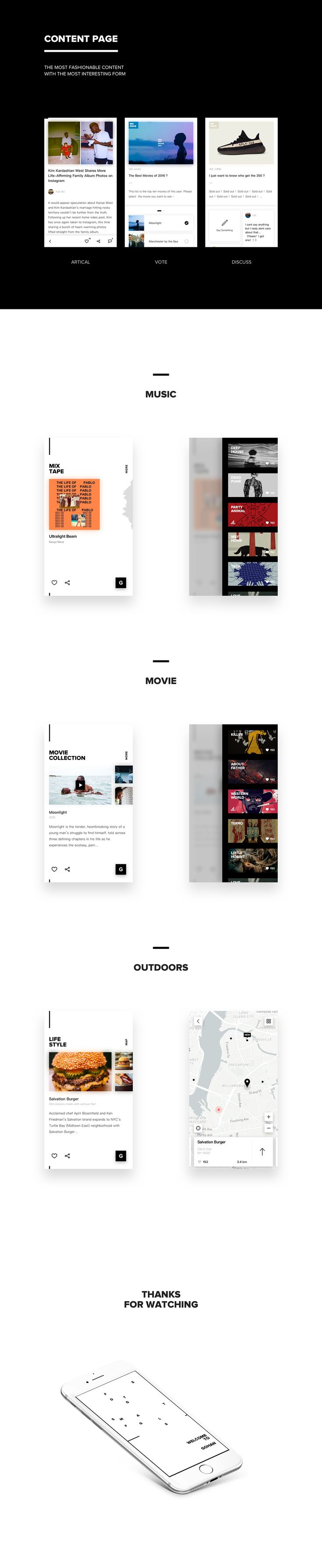 GOHAN - App Design on Behance