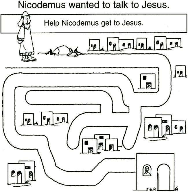 39 Best Images About Day 3 VBS Jesus Saw Nicodemus On
