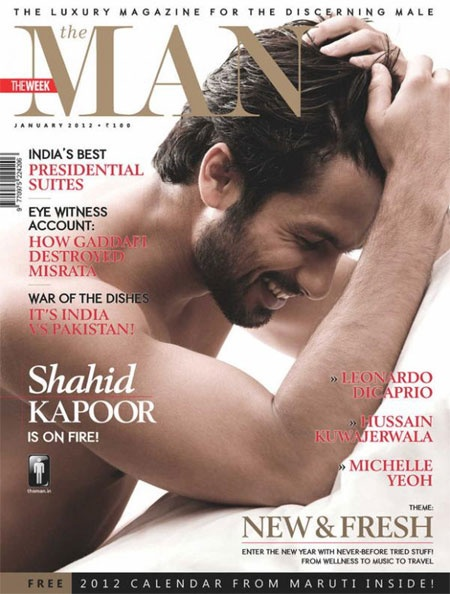 Shahid Kapoor on MAN