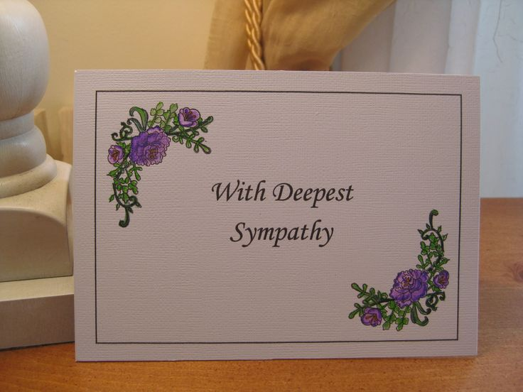 Excited to share the latest addition to my #etsy shop: Sympathy card, Floral, watercolor sympathy card, With deepest sympathy http://etsy.LorisCardCreationsUS/2EI08kQ