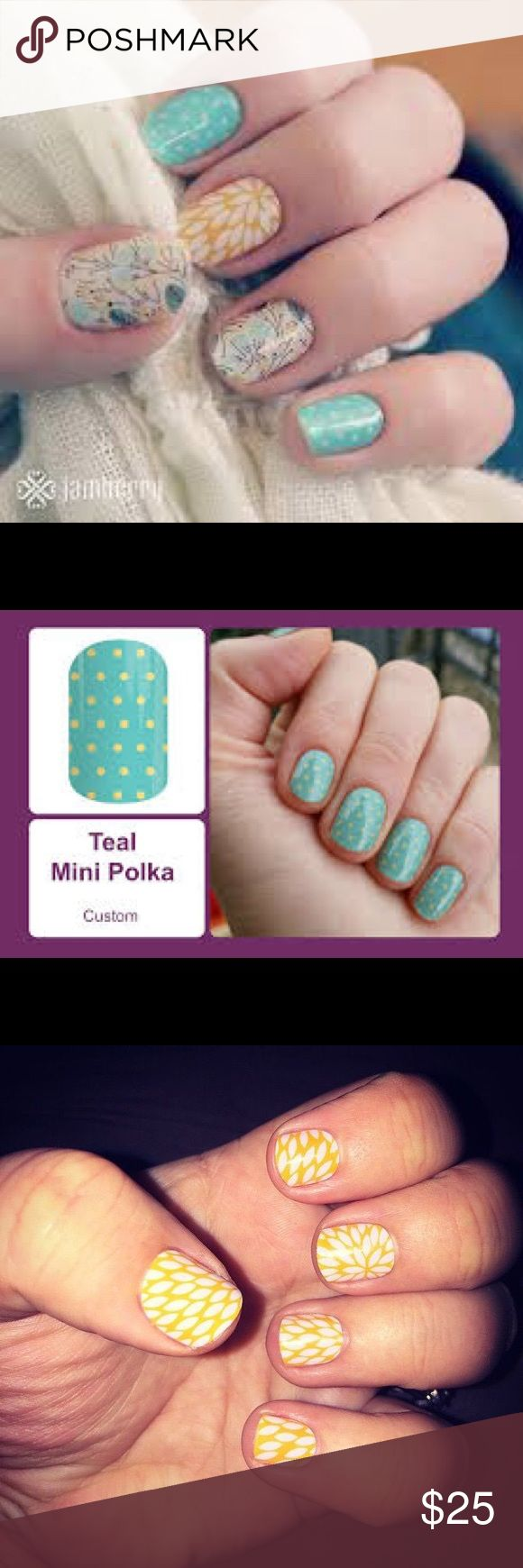 JAMBERRY nail wraps -- 3 total wraps included Three JAMBERRY wraps - when combined create the look in first picture Jamberry Other
