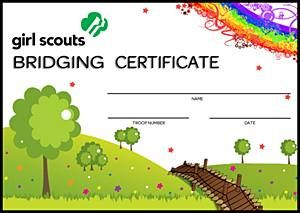 Free Printable Girl Scout Certificates | BRIDGING CERTIFICATE - Girl Scouts Online Store