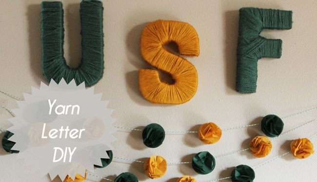 Yarn covered letter DIY - Handmade Decor - The Flair Exchange
