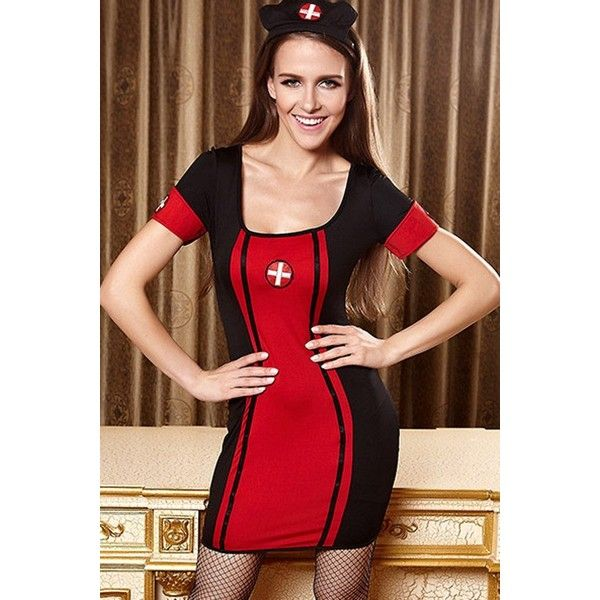 Black Sexy Nurse Dress Uniform Cosplay Costume ($22) ❤ liked on Polyvore featuring costumes, black, sexy role play costumes, nurse halloween costume, sexy nurse halloween costume, nurse costume and sexy costumes