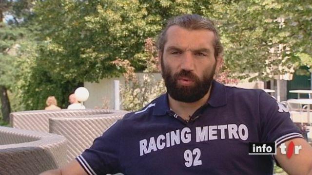RTS Video: Recontre avec Sébastien Chabal, qui prépare sa nouvelle saison de Rugby à l'Ecole Hôtelière de Lausanne
