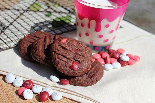 Seven Green Apples | Chocolate & Raspberry M&M Cookies