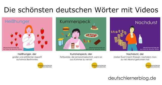 Wortschatz mit Bildern lernen - Schöne deutsche Wörter (95-97)