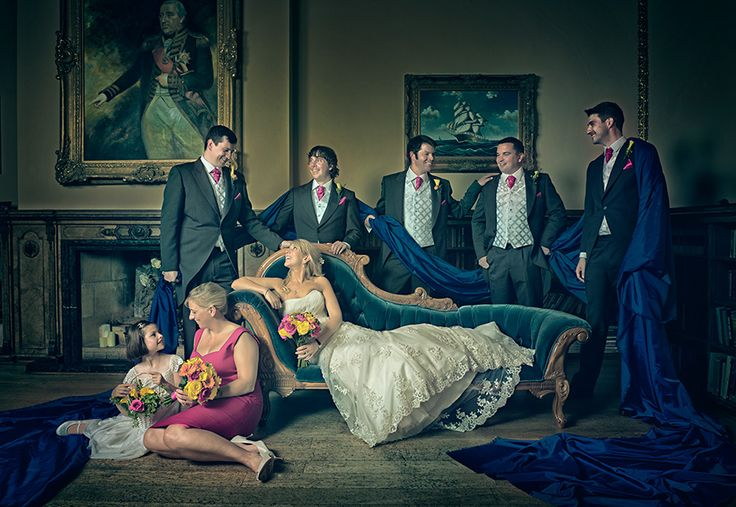 Orchardleigh House Wedding – Group Photo