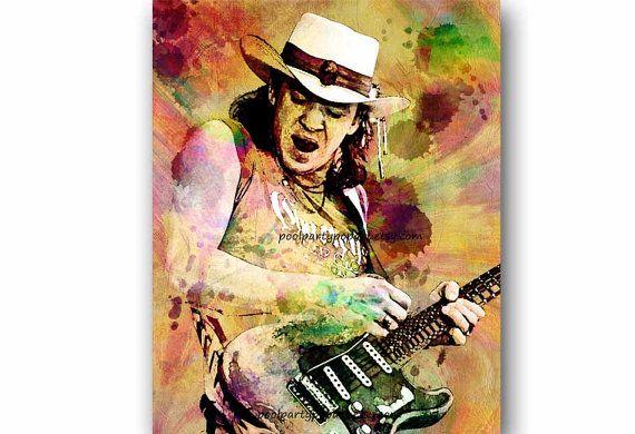 Stevie Ray Vaughan, SRV, Stevie Ray Vaughan kunst, Guitar Player,