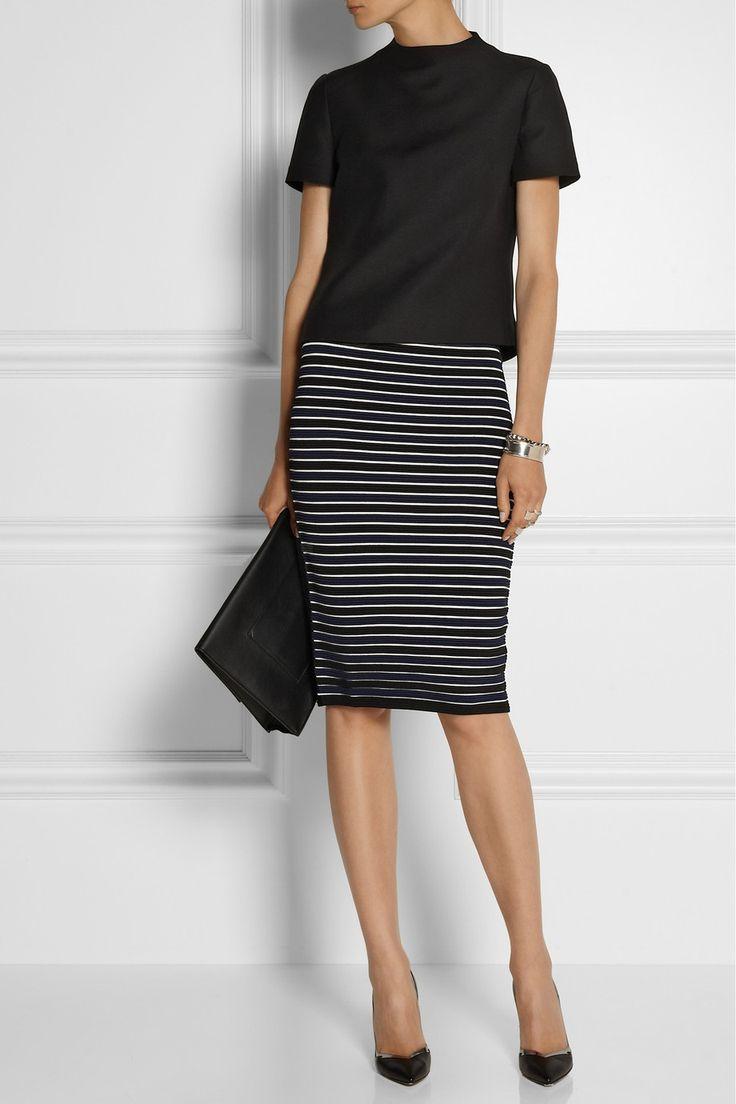 Jonathan Simkhai|Ribbed-knit pencil skirt|NET-A-PORTER.COM