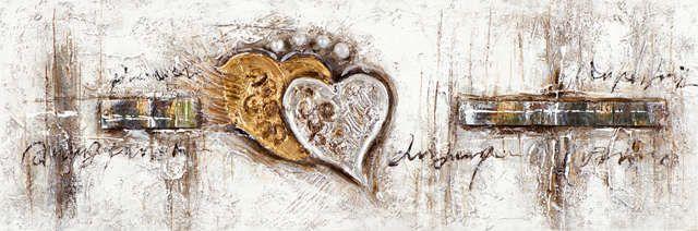 New+Life+Collection+-+Herz+ist+Trumpf+II+-+handgemaltes+Leinwandbild+günstig+kaufen+-+auch+auf+Rechnung!