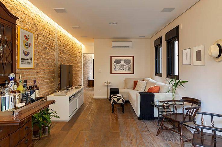 Casa Moema: Salas multimídia ecléticas por Tria Arquitetura