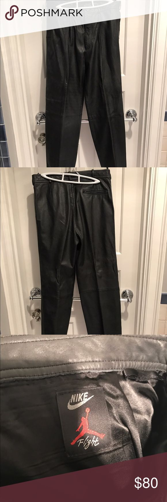 Men's Leather Air Nike Leather Pants Regular wear and tear! Bundle with jacket to save! Nike Pants
