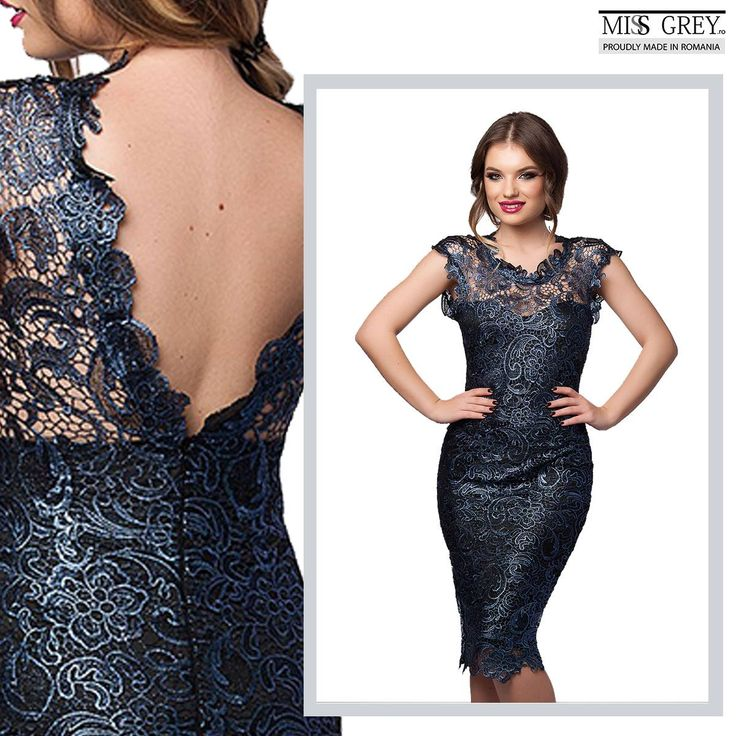 You can never go wrong with lace! When you want to impress, wear the precious blue Tania dress by Miss Grey!