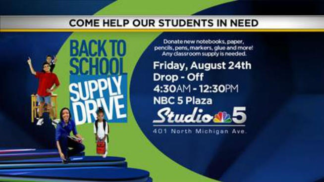 Join NBC 5 for our Annual Back to School Supply Drive!