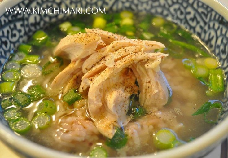 Yeong gye baeksuk - Korean Chicken Soup is so simple and easy to make using whole young chicken, garlic and onion. A popular Korean summer food.
