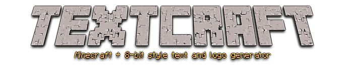 Textcraft - Minecraft font/logo generator - this was great to create birthday messages!