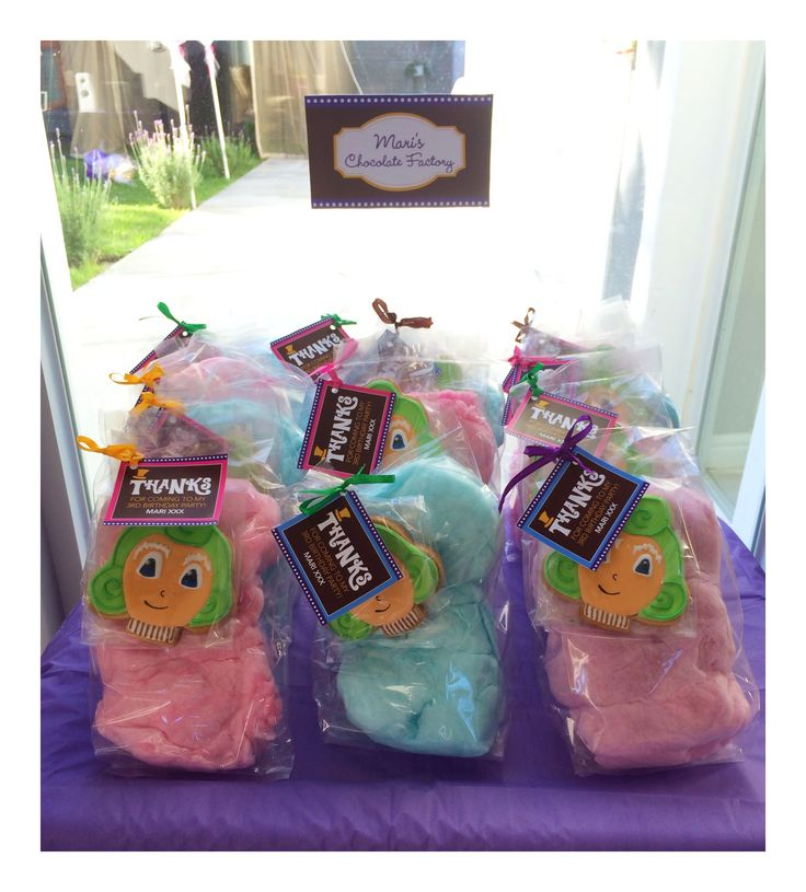 Thank you gifts for the party guests #willywonkaparty