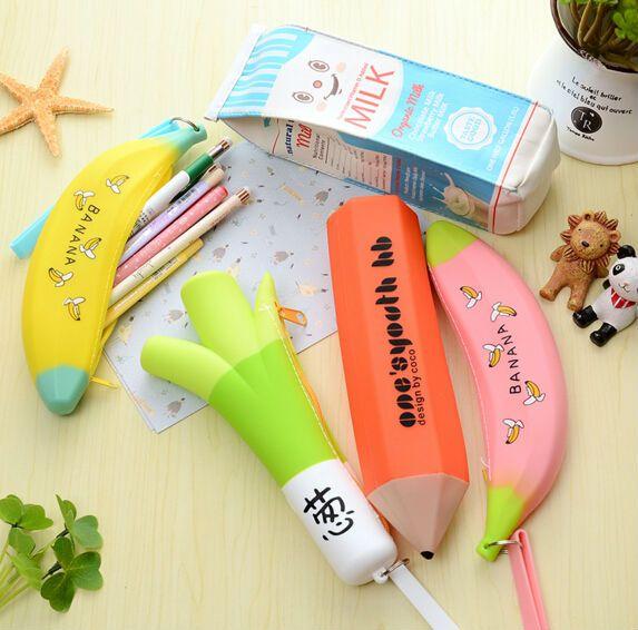 Creative Pencil Case fruit pen bag box school office supplies high quality cute cool birthday kawaii gift for children boy girl #Affiliate