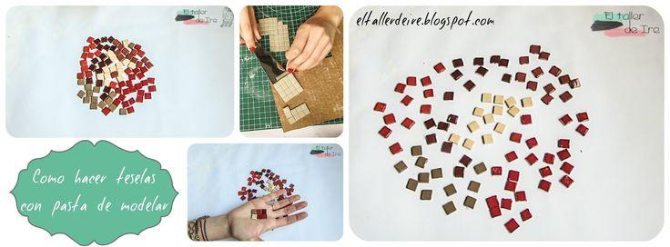 Cómo hacer teselas con pasta de modelar