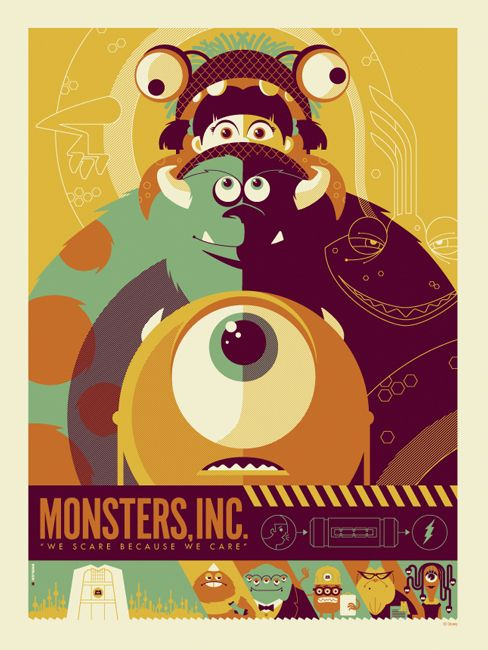 Monster Inc Vector