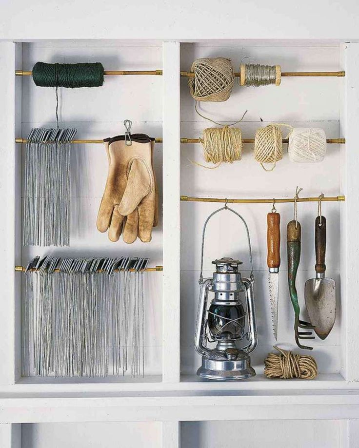 Come organizzare gli attrezzi da giardino - Idee per l'organizzazione degli attrezzi