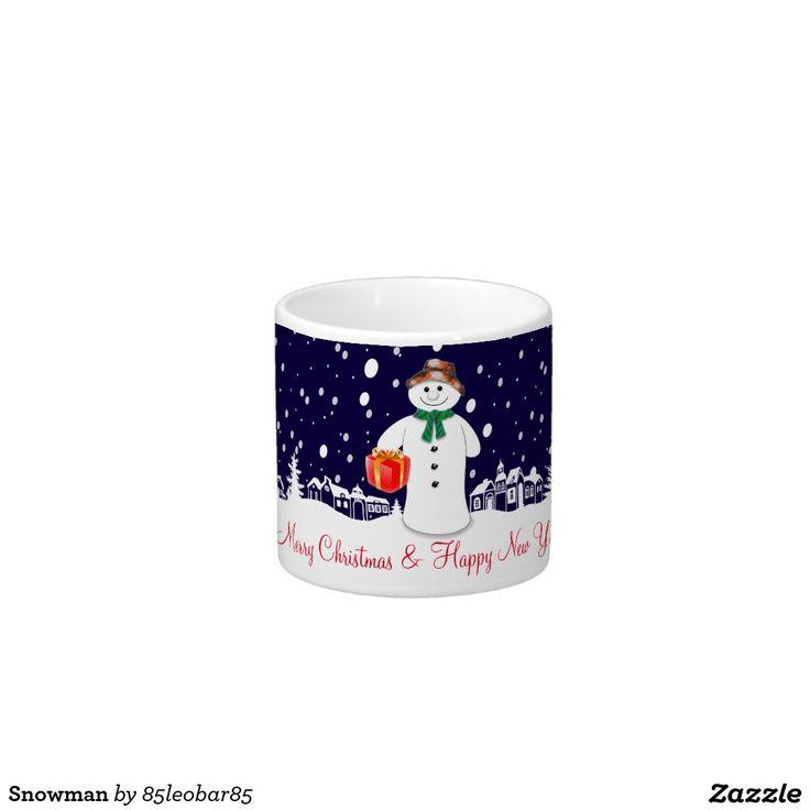 Snowman Espresso Cup
