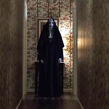 """The Conjuring 2"" (2016). I'm very pleased that the creepy-ass nun is getting her own spinoff movie."