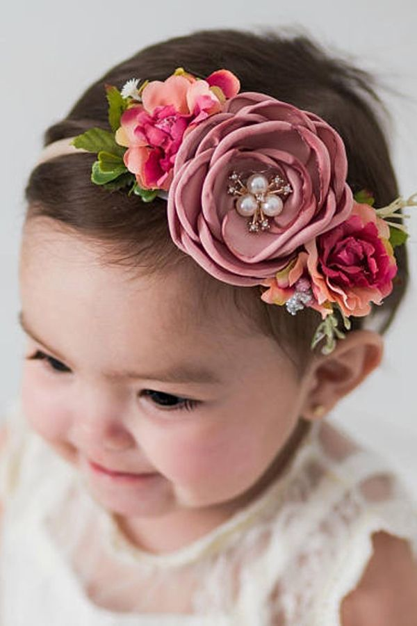 Nice Newborn Baby Girl Infant Crown Headband Baby & Toddler Clothing Hair Accessories