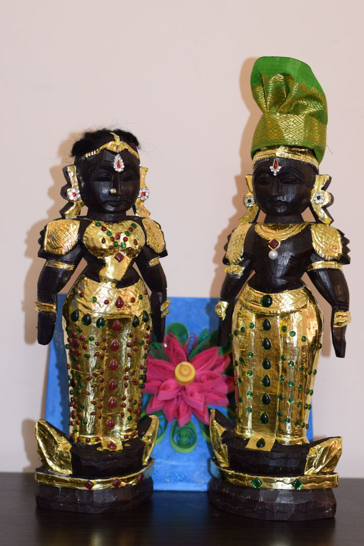 Decorated Marapachi Dolls in Tanjore Style