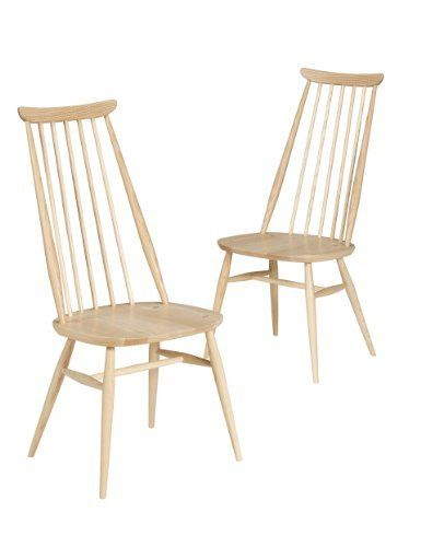 2 ercol turville dining chairs without cushion marks. Black Bedroom Furniture Sets. Home Design Ideas