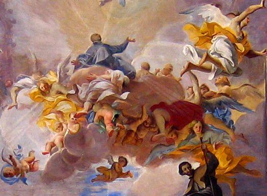 S ignazio ceiling by andrea pozzo detail baroque art
