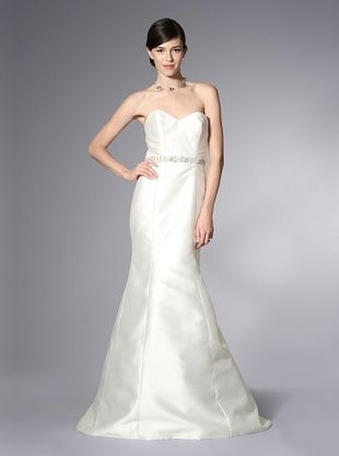 -41,900% OFF Theia Women's Mermaid Gown with  Crystal Waistband (Off-White)