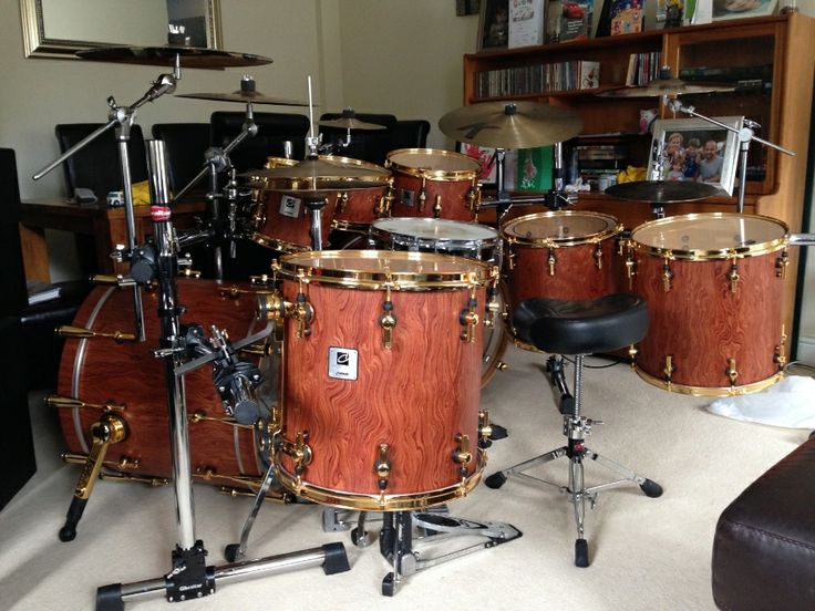 Sonor Designer Bubinga and Gold | Drums | Pinterest ...