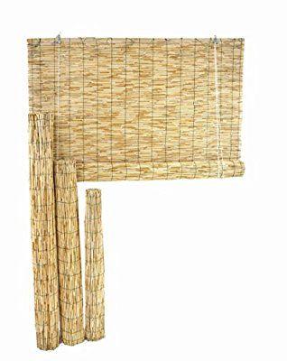 Store en bambou rideaux en canne fine avec poulie 1,8 x 3 m occultant