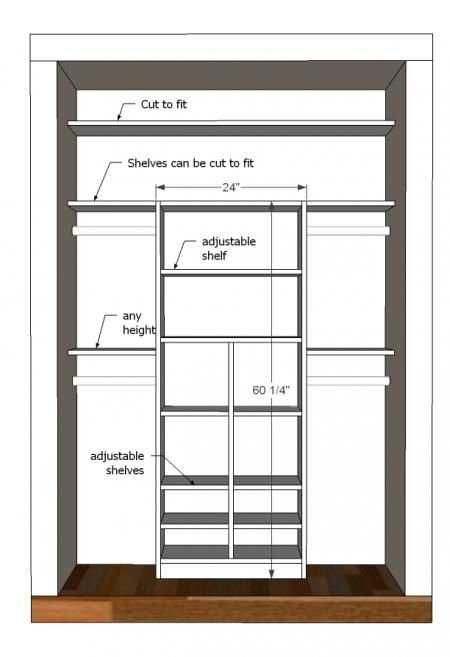 plans for custom closet built in can be made child height for easy