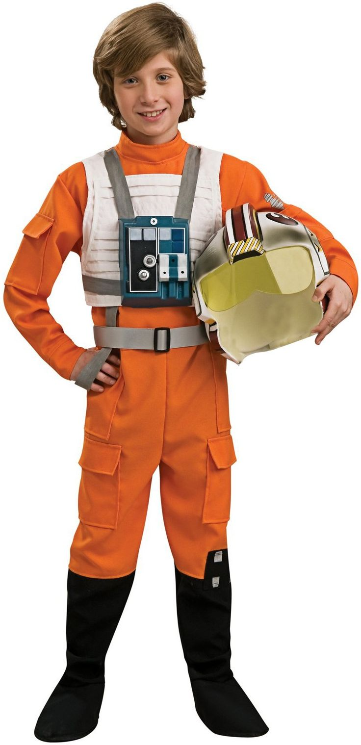 star wars xwing fighter pilot child costume includes jumpsuit helmet tunic