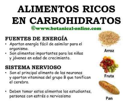 Las 25 mejores ideas sobre hidratos de carbono complejos en pinterest - Alimentos ricos en carbohidratos ...