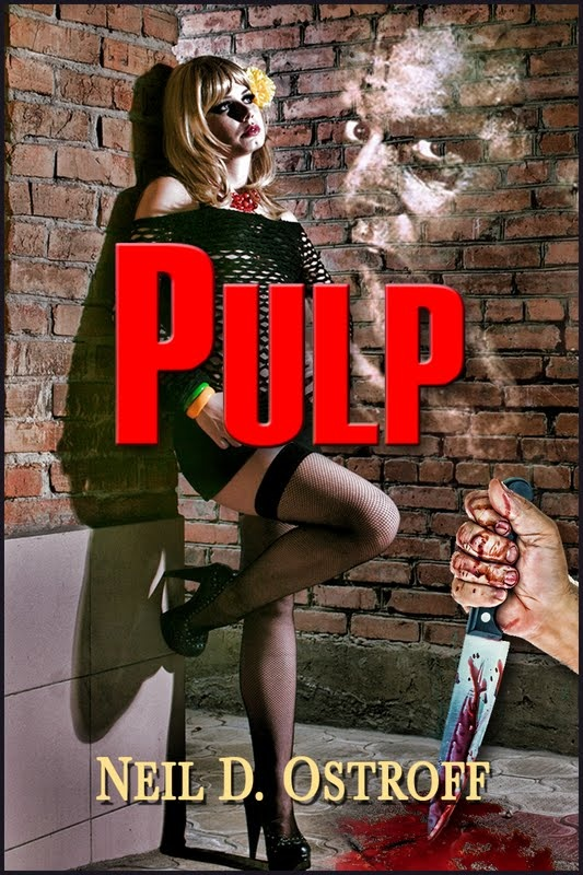 A clairvoyant prostitute, a psychotic soldier, a broke newspaper writer, and a dismembered body; what could go wrong?  http://www.amazon.com/Pulp-ebook/dp/B008B7RNFY/ref=la_B004URQ85K_1_4?s=books=UTF8=1355751010=1-4
